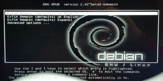 Start auf einem UEFI-System ...