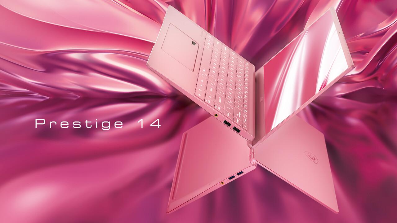 """MSI Prestige 14: Schlankes 14""""-Notebook für Kreative auch in Pink"""