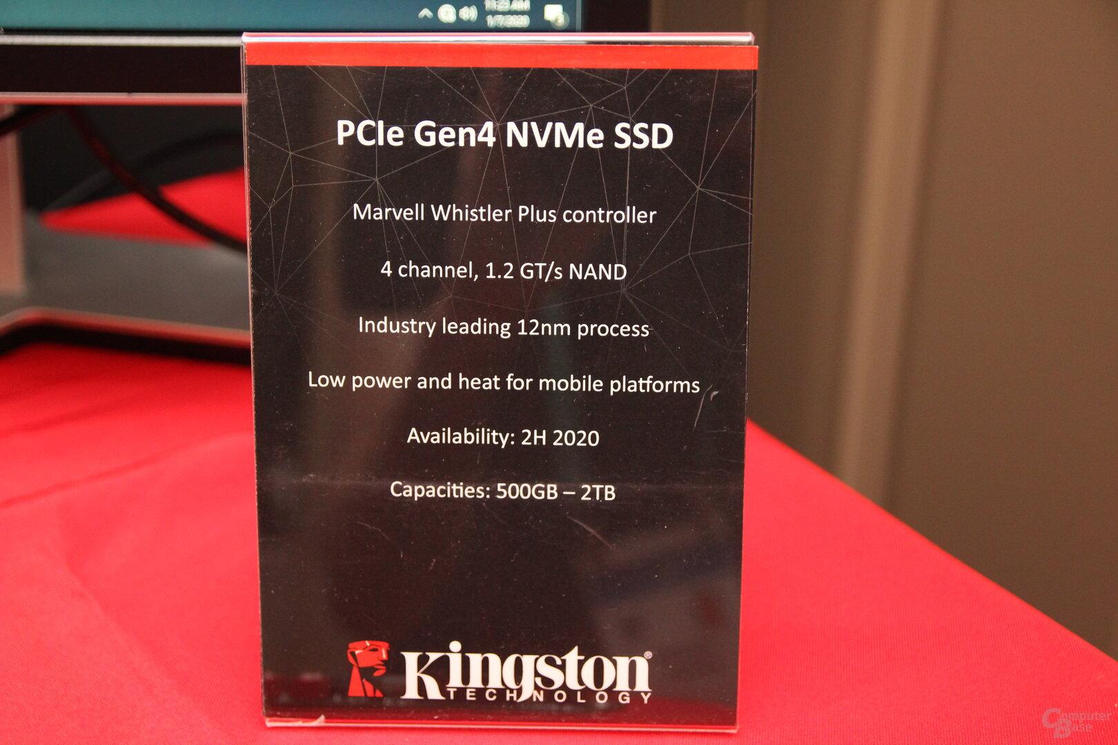 Kingston-SSD-Ankündigungen zur CES 2020