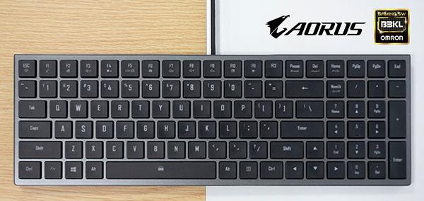 Mechanische Tastatur mit Omron-Tastentechnik für Notebooks