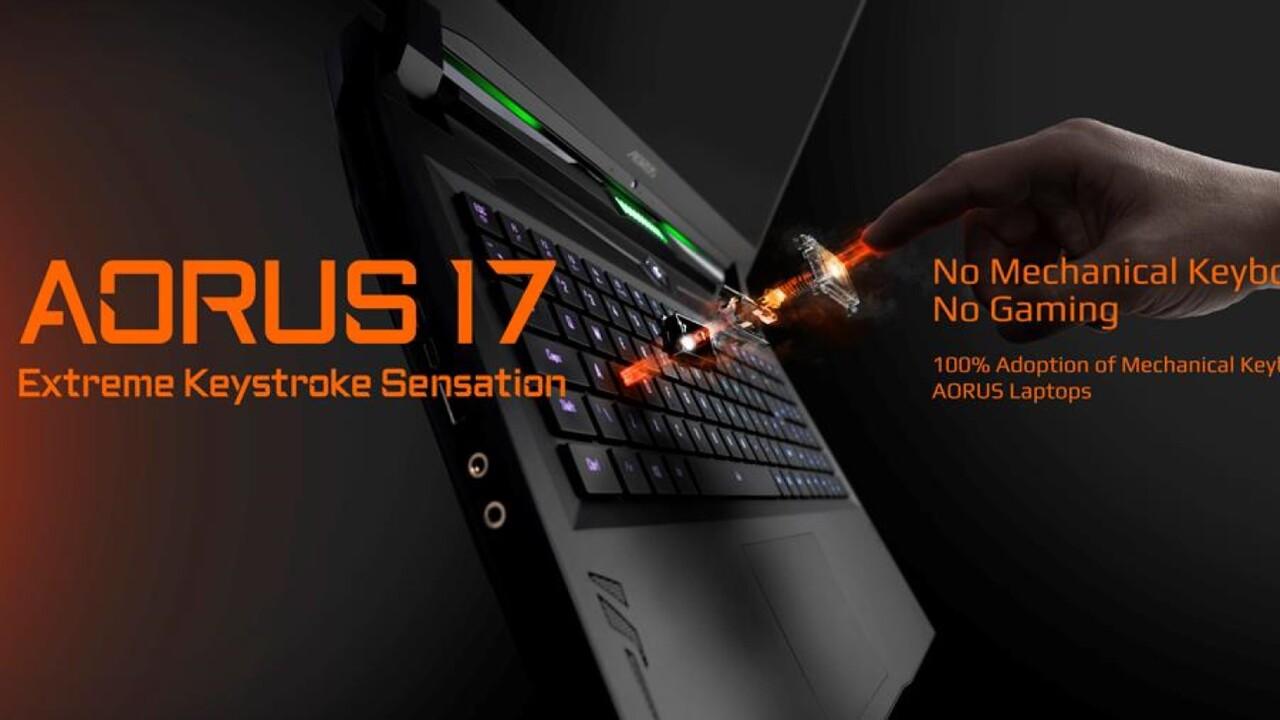 Gigabyte auf der CES 2020: Aorus 17 mit mechanischer Tastatur, weitere folgen