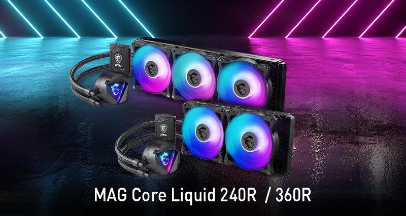 MSIs MAG-Core-Liquid-Serie als geschlossene All-in-One-Wasserkühlung