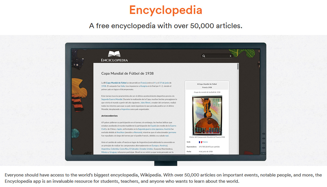 Die Offline-Enzyklopädie von Endless OS umfasst über 50.000 Artikel