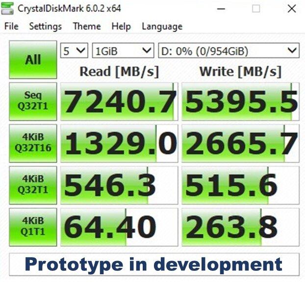 Adata-Prototyp: PCIe-4-SSD erreicht über 7 GB/s