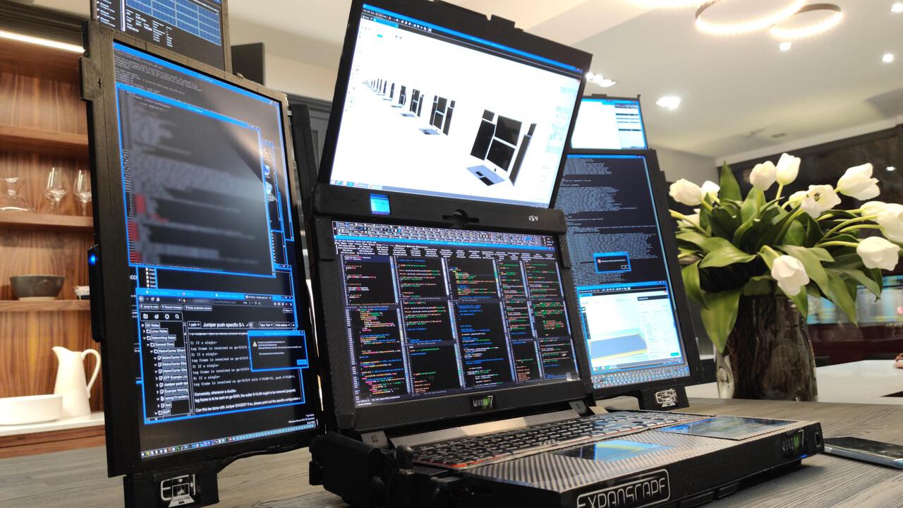 Expanscape Aurora 7: Prototyp-Notebook mit sieben Displays