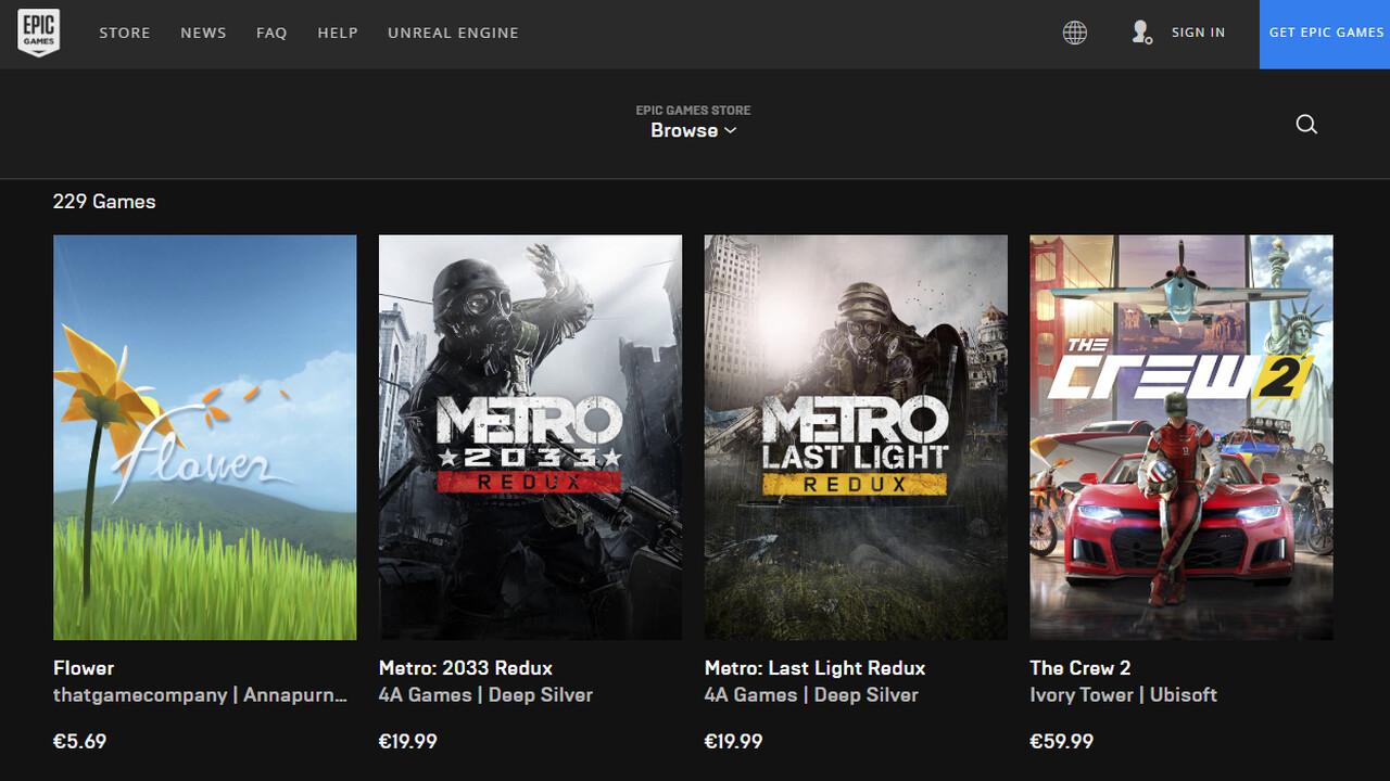 Epic Games Store: Umsätze, User und weitere Exklusiv- und Gratisspiele
