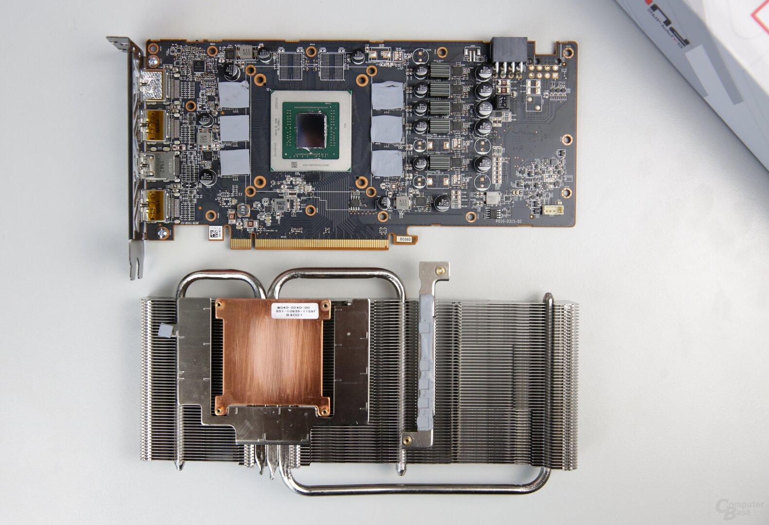 PCB und Kühler der Radeon RX 5600 Pulse sind von der RX 5700 bekannt