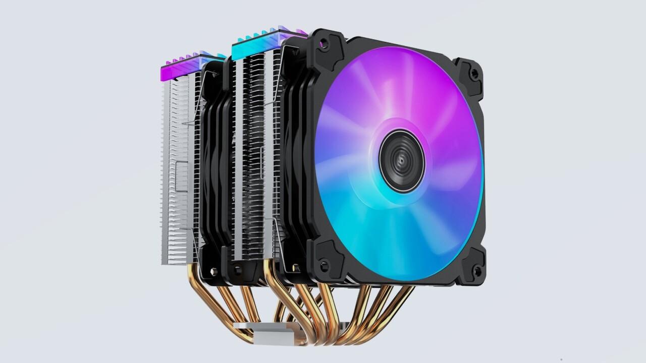 Jonsbo CR-2000: Doppelturm-Kühler mit 6 Heatpipes und 2 RGB-Lüftern