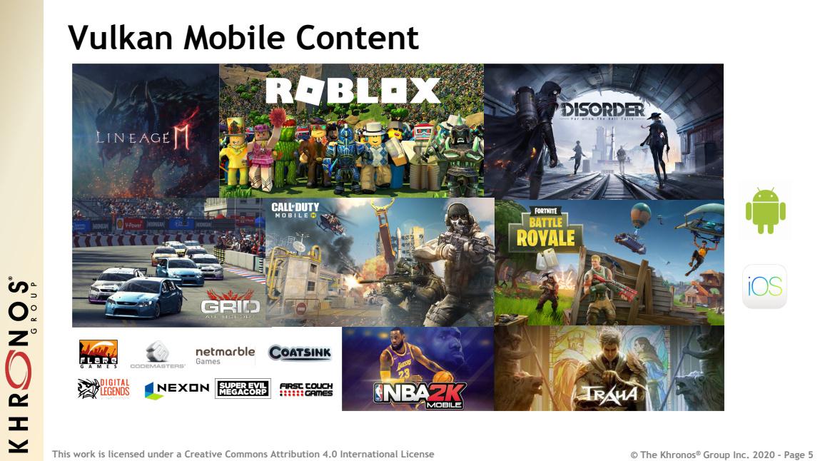 Ob AAA-Spielen oder mobile Inhalte, immer mehr Entwickler entdecken Vulkan als Alternative zu DirectX