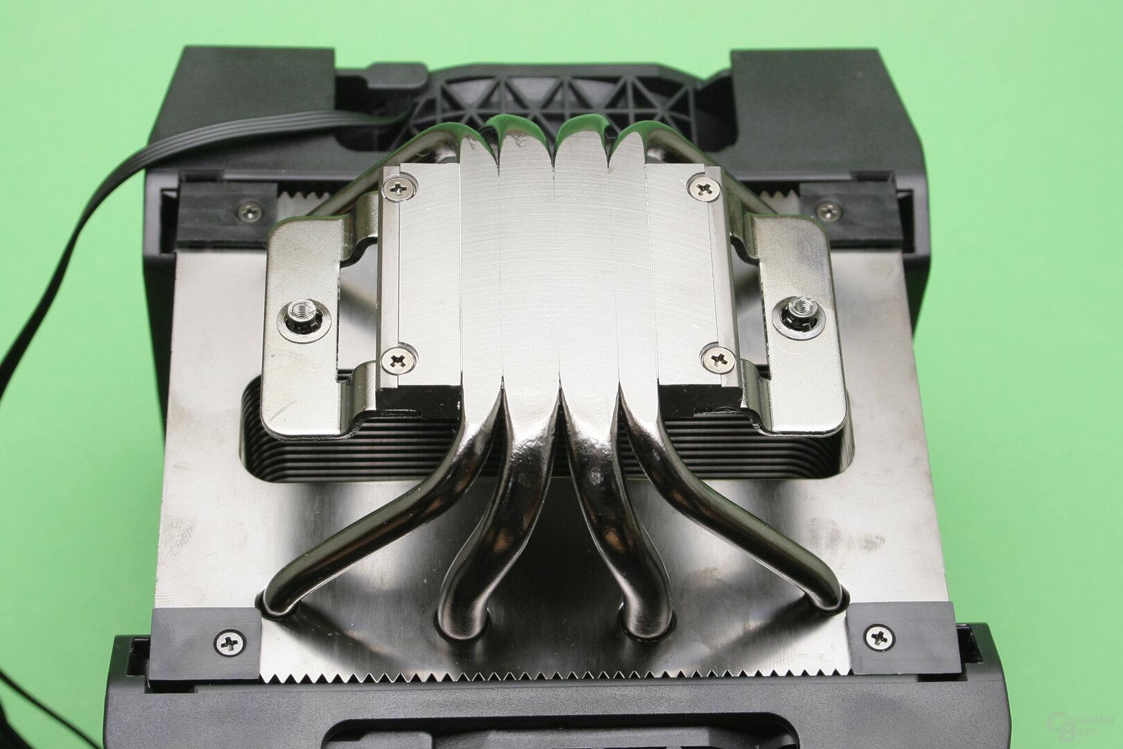 Corsair A500: Heatpipe Direct Touch anstelle einer Bodenplatte aus Kupfer