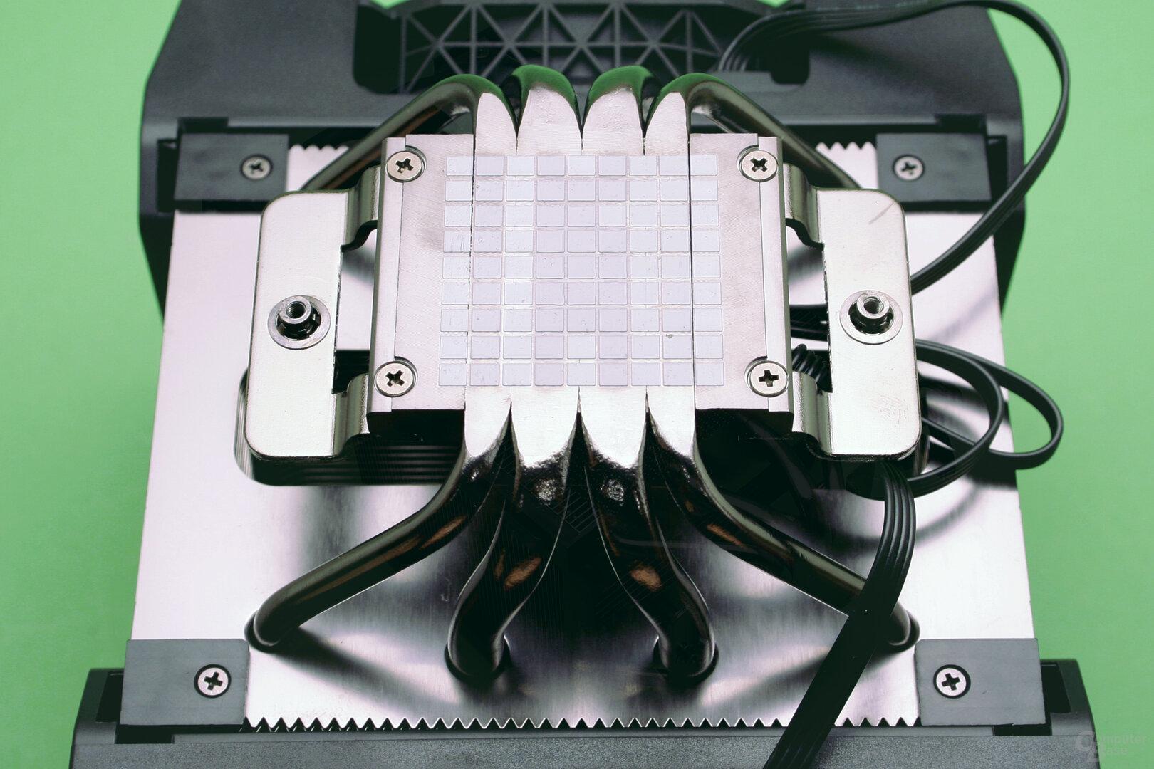 Corsair A500: Im Voraus aufgetragene Wärmeleitpaste