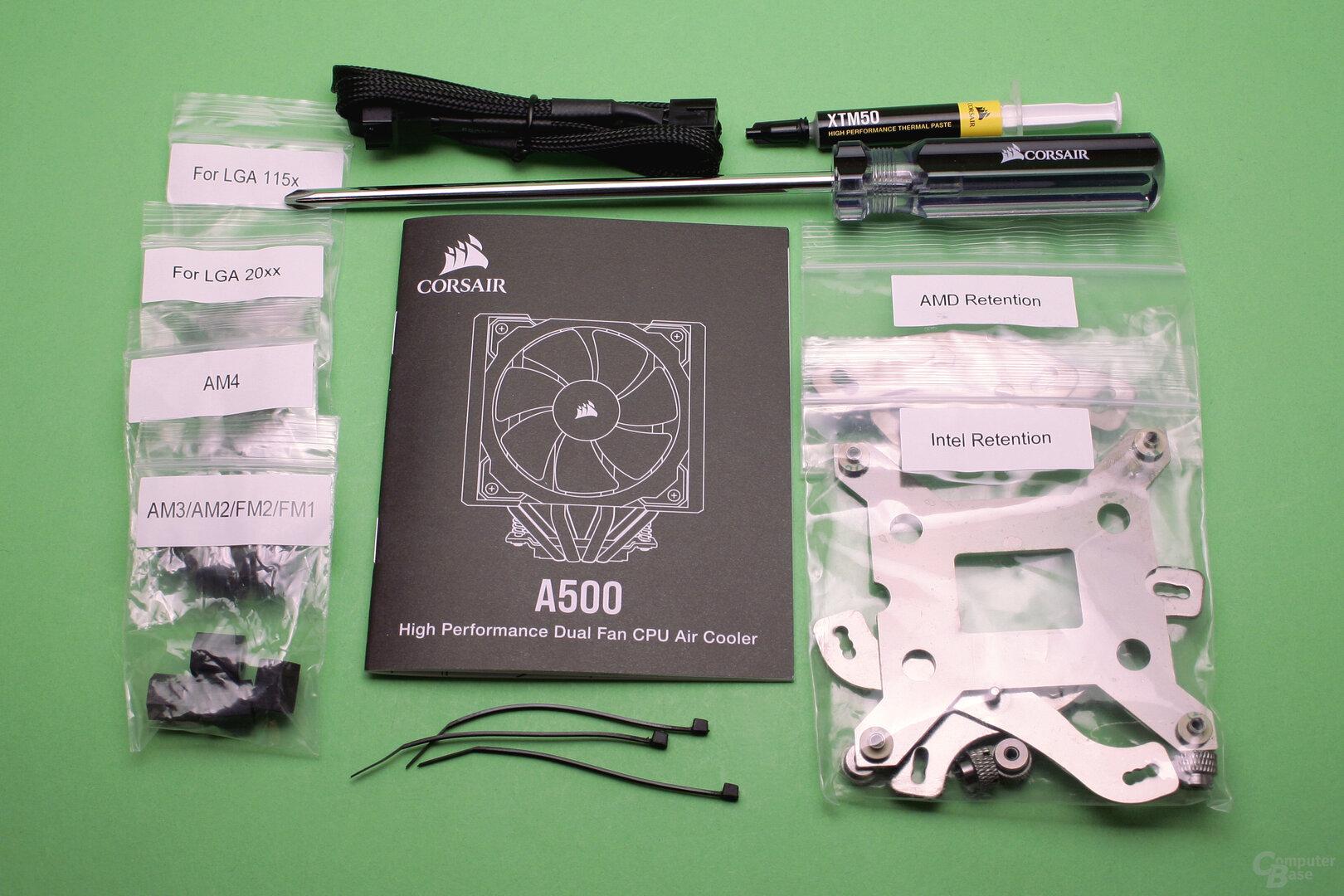 Corsair A500: Der Lieferumfang ist großzügig