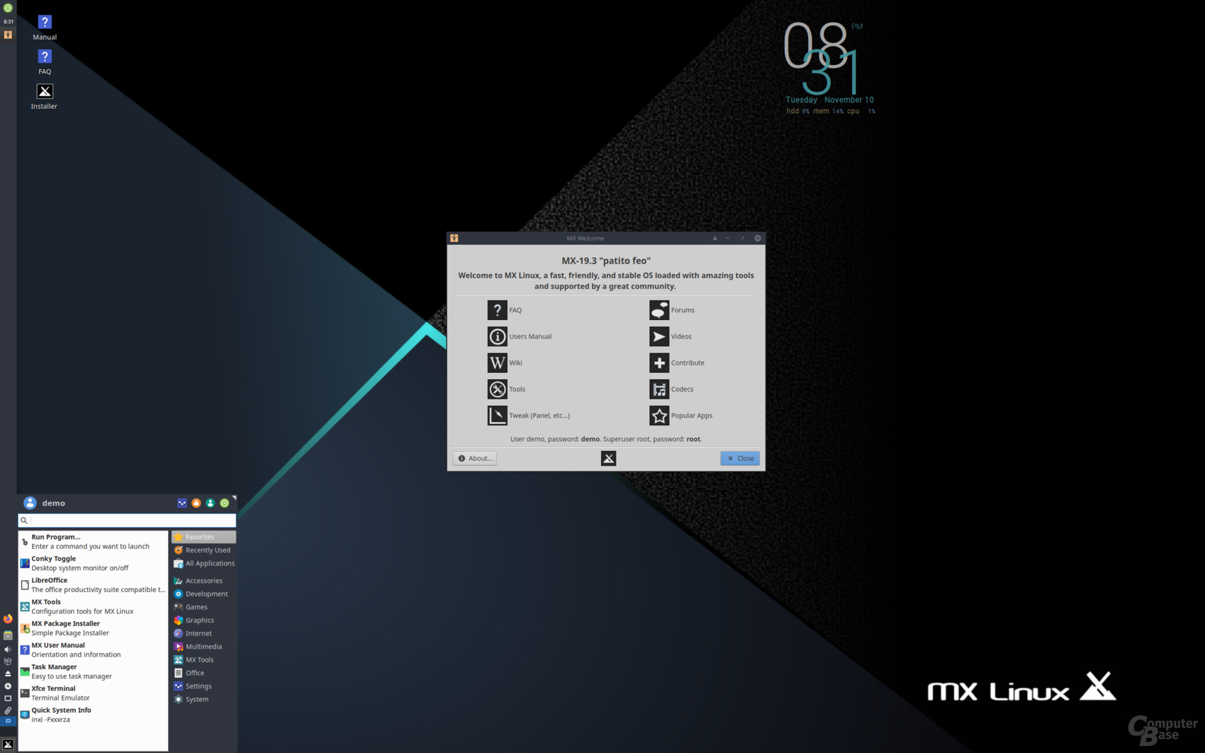 """MX Linux 19.3 (""""Patito Feo"""") ist eines der populärsten Debian-Derivate"""