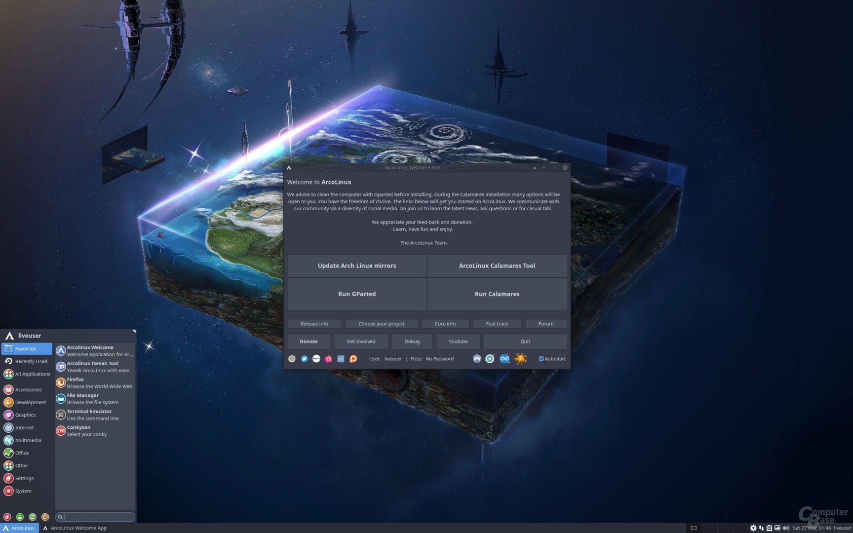 ArcoLinux 21.03 besticht durch seine aktive Community