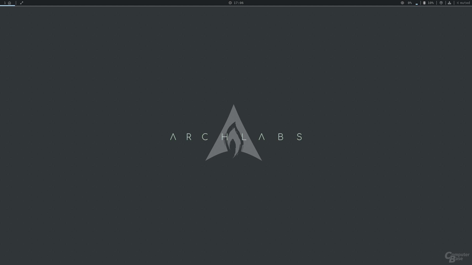 ArchLabs mit dem Fenstermanager Openbox v3.6.1 nach der Installation