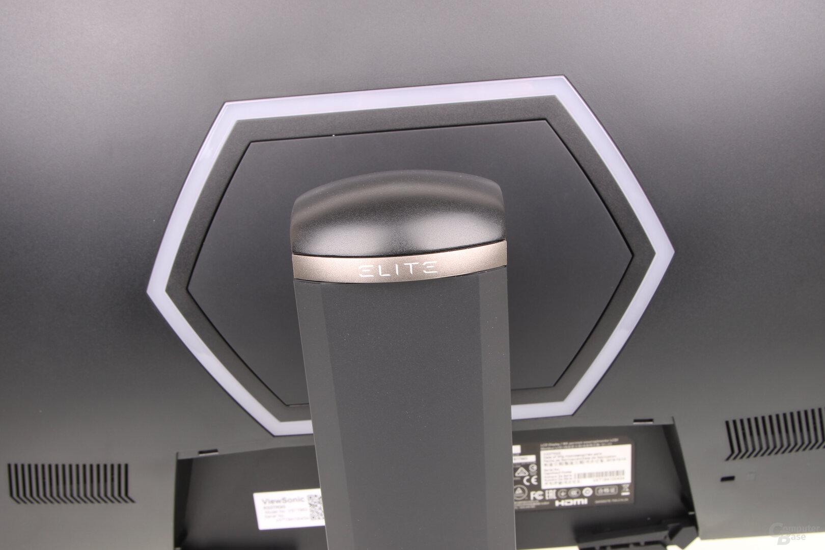 RGB-Beleuchtung an der Rückseite des ViewSonic XG270QG