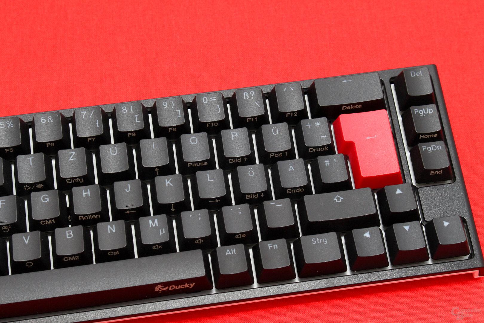 Pfeil-, Bild- und Entf-Tasten sind alles, was vom Funktionsblock einer TKL-Tastatur bleibt