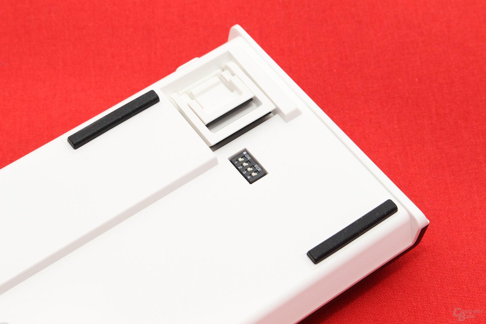 DIP-Schalter aktivieren Zusatzfunktionen