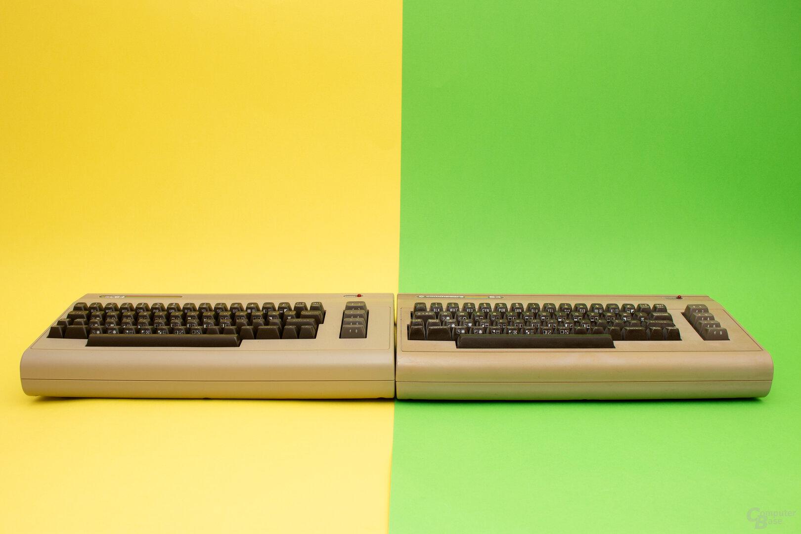 Der TheC64 (links) und das Original (rechts)