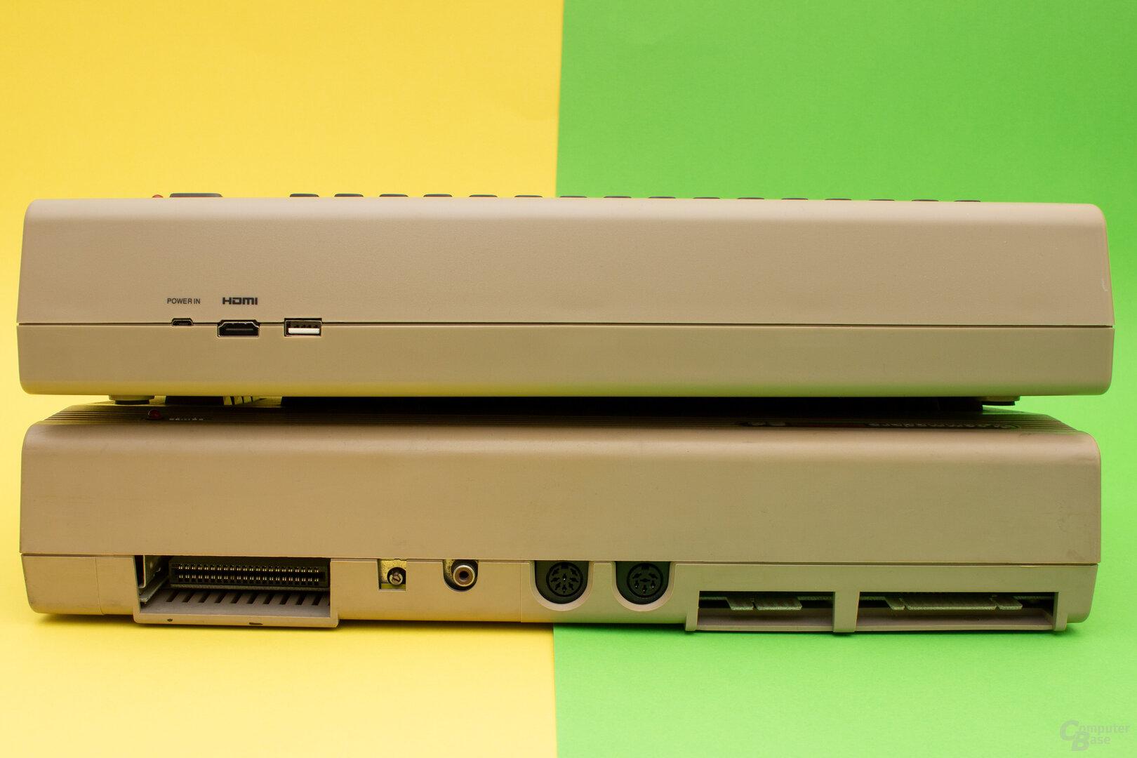 Der Nachbau (oben) lässt sich nativ keine alte Hardware anschließen