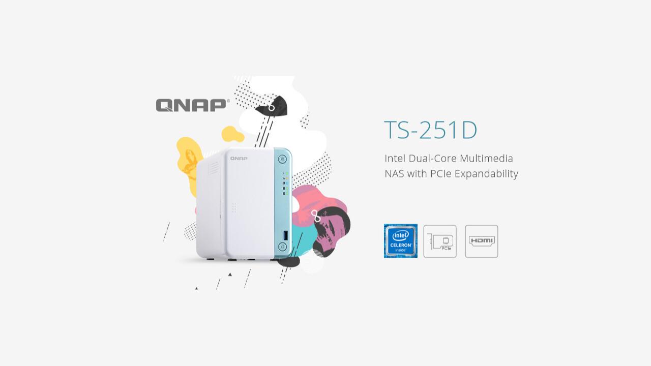 QNAP TS-251D: Intel-NAS mit PCIe-x4-Slot, HDMI und IR