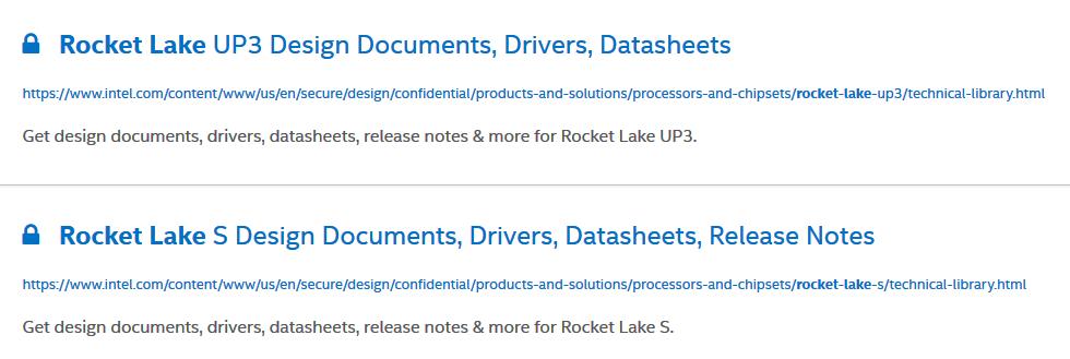 Rocket Lake als UP3- und S-Variante