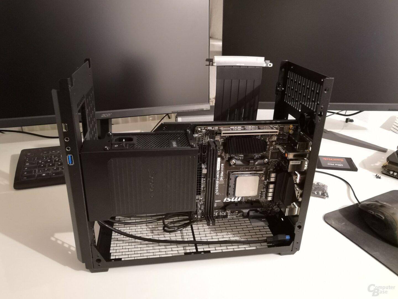 Hardware zur Hälfte installiert