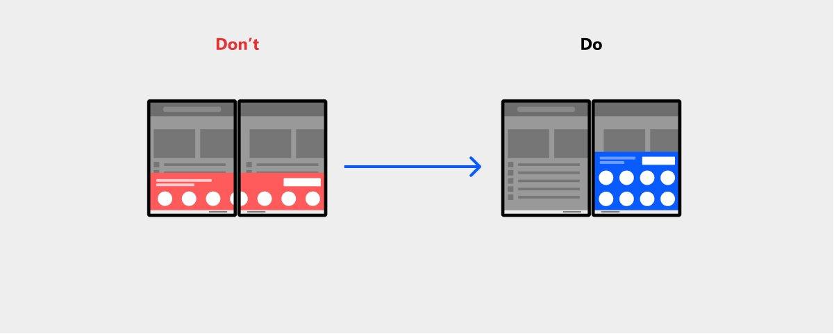 Die Do's and Don'ts auf einem Dual-Display-Gerät