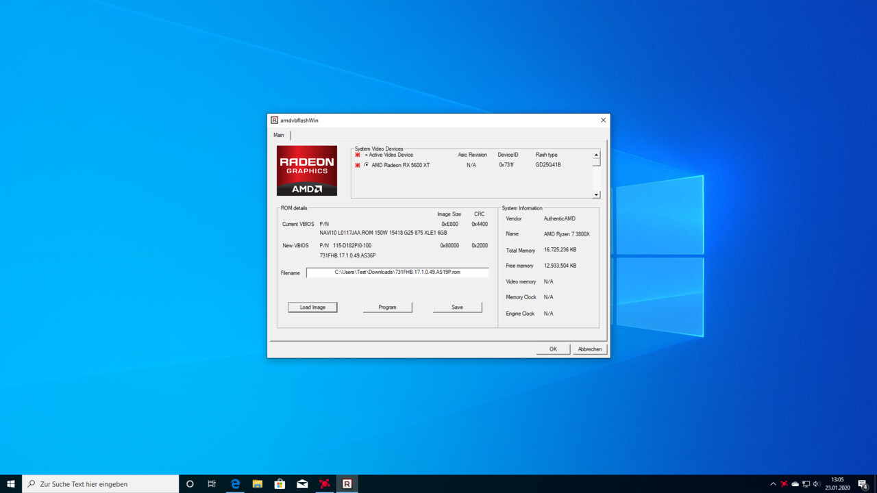 Anleitung: So lässt sich das BIOS der AMD Radeon RX 5600 XT updaten