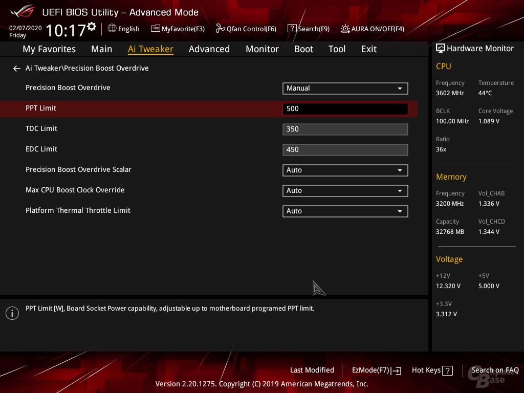 Overclocking geht auch im BIOS