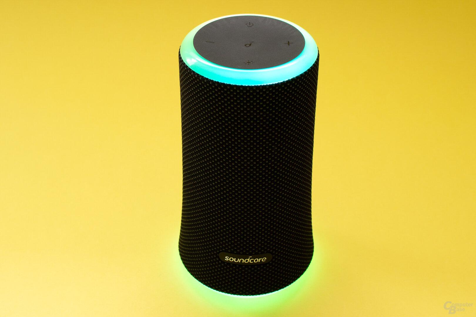 Der Soundcore Flare 2 besitzt nun zwei LED-Ringe