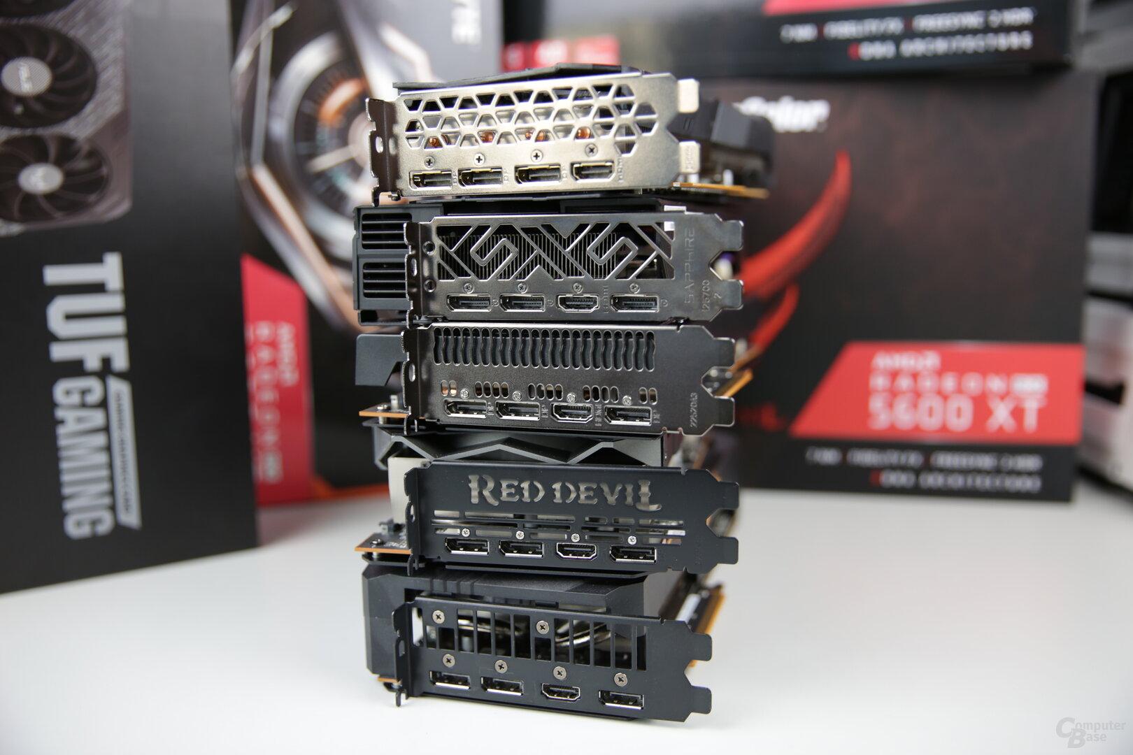 Einheitliche Monitoranschlüsse bei der RX 5600 XT