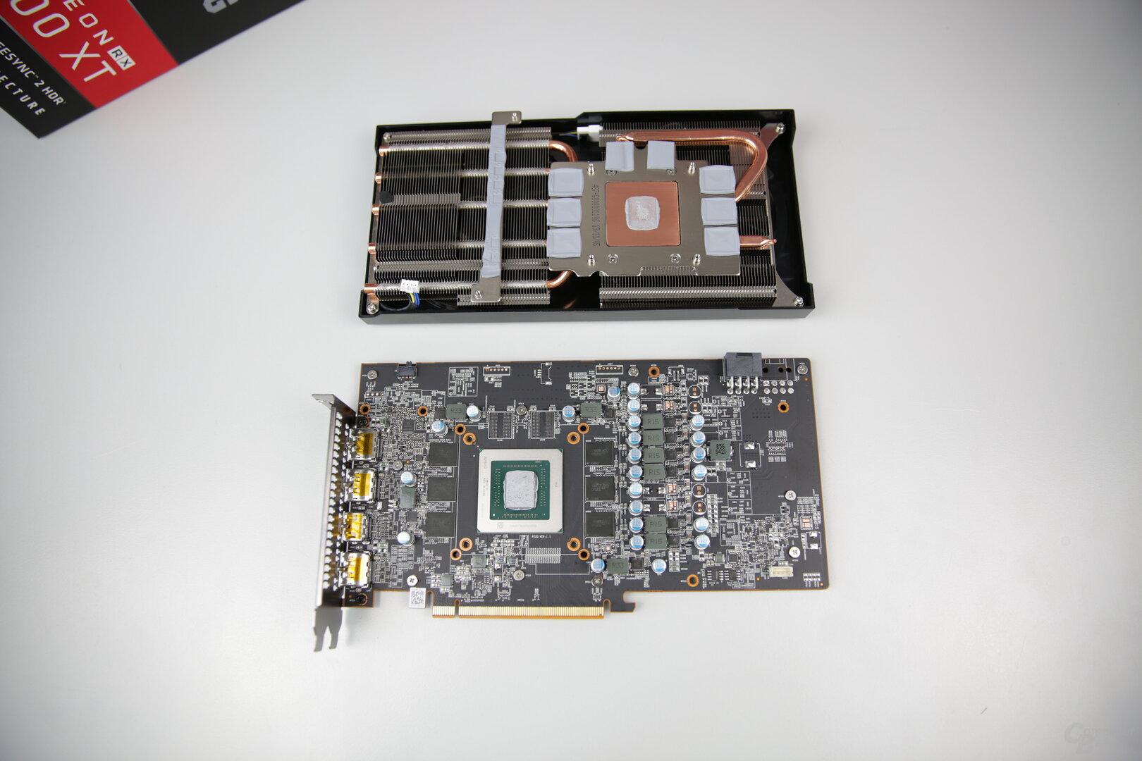 PCB und Kühler der PowerColor Radeon RX 5600 XT Red Dragon
