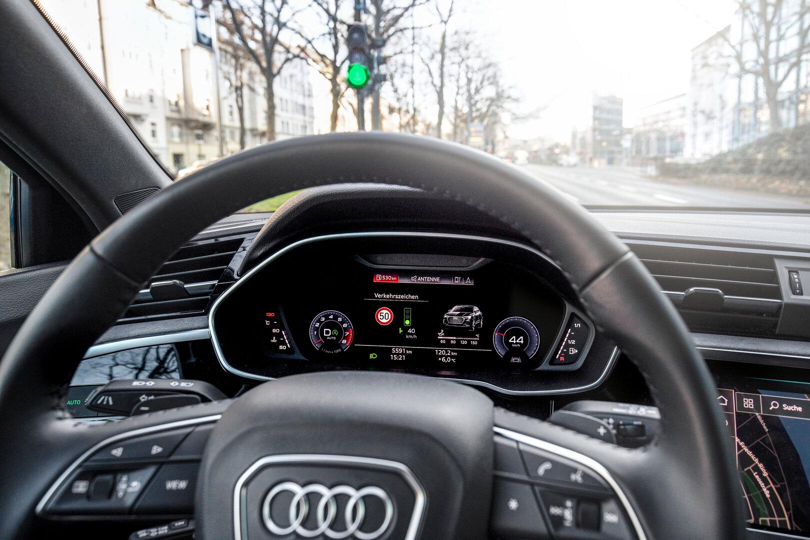 Audi Ampelinformation in Düsseldorf