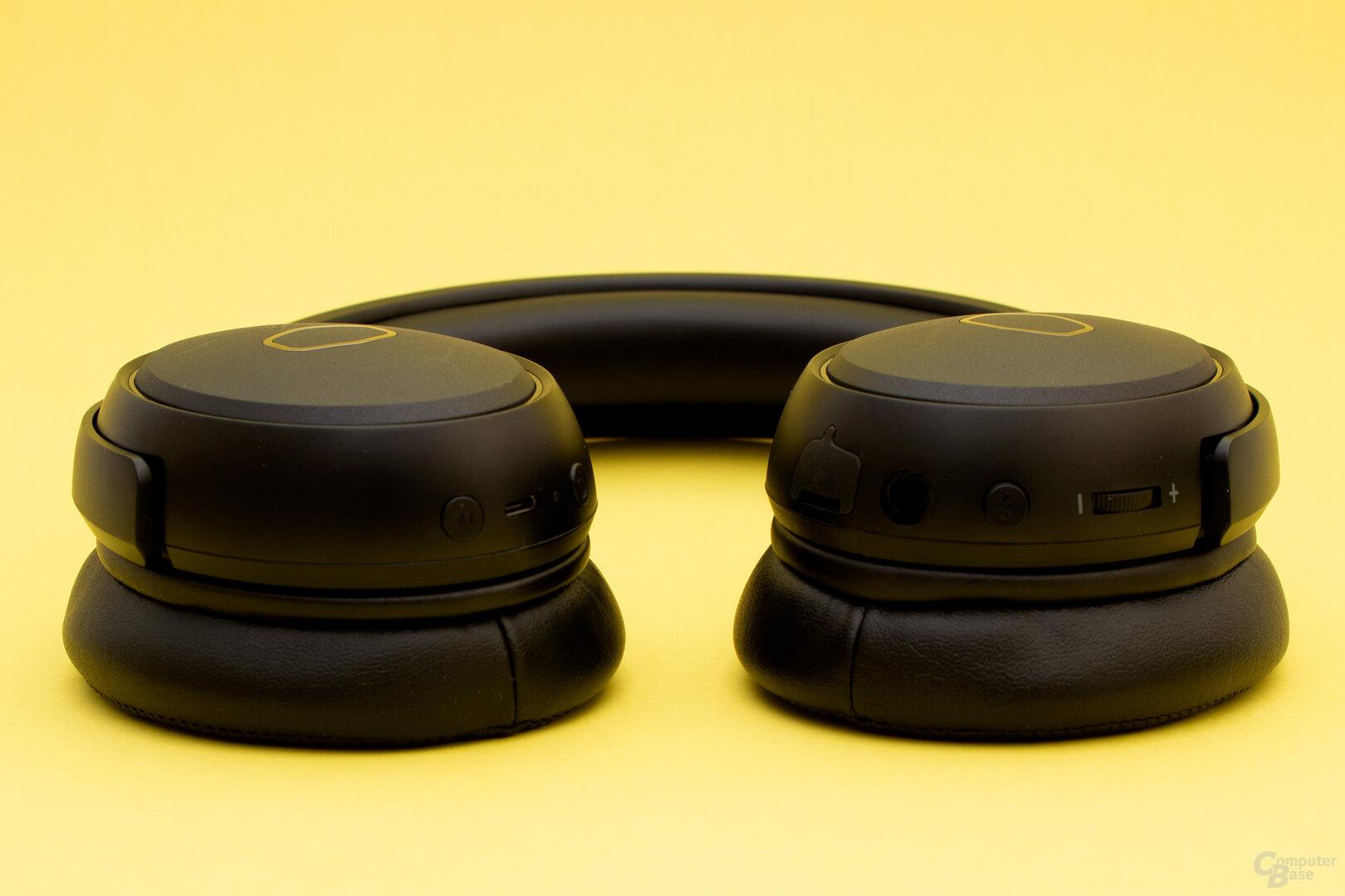 Das MH-670 bietet viele Bedienelemente am Headset selbst