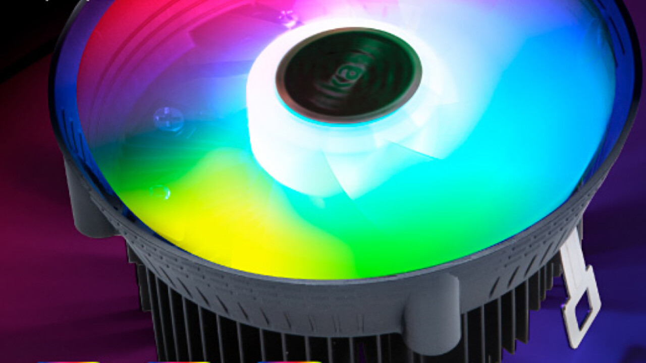 Boxed-Alternative mit RGB: Vegas Chroma als schwarzer Top-Blower mit bunten LEDs