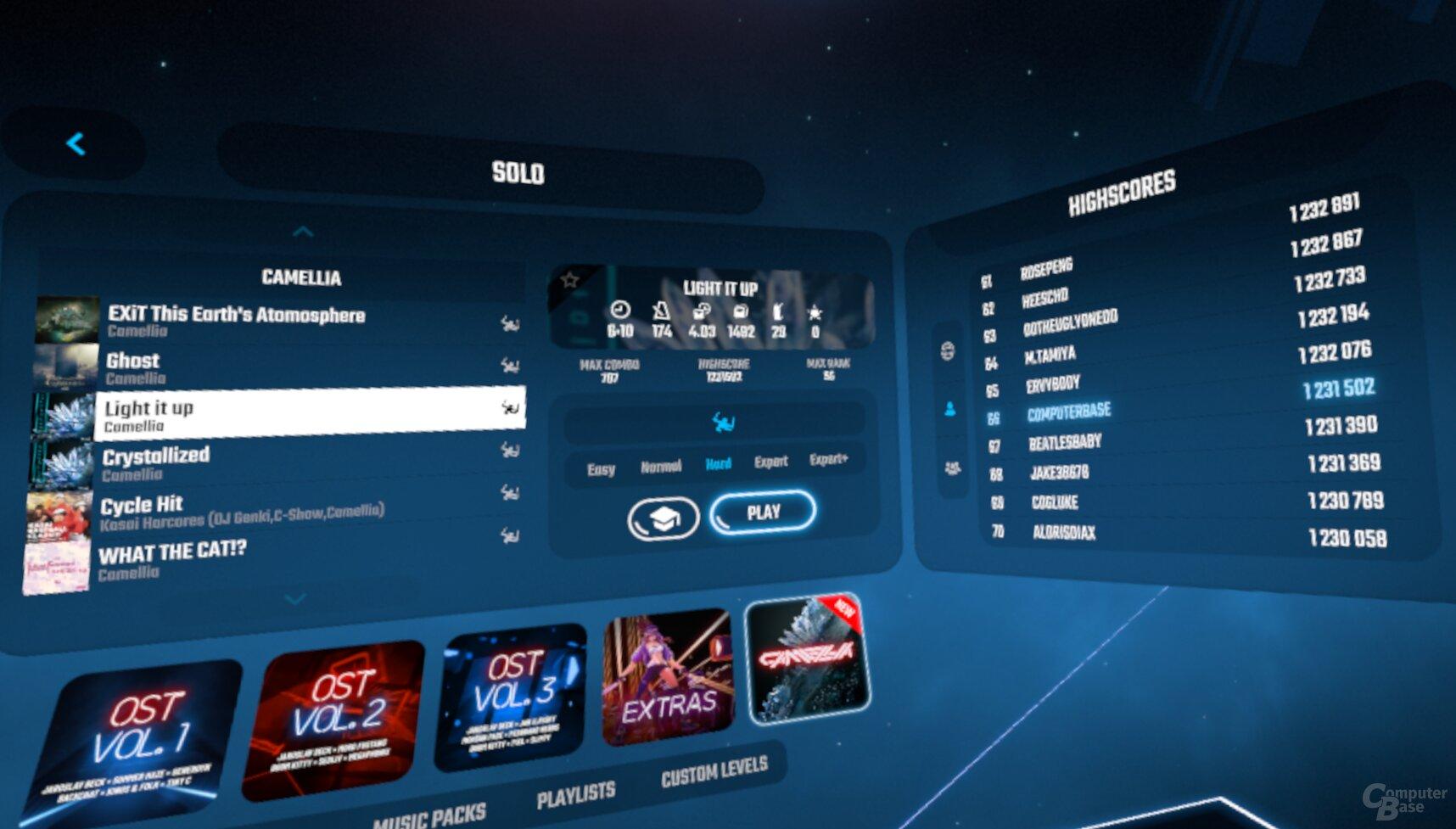 Beatsaber Highscore mit Valve Index 2