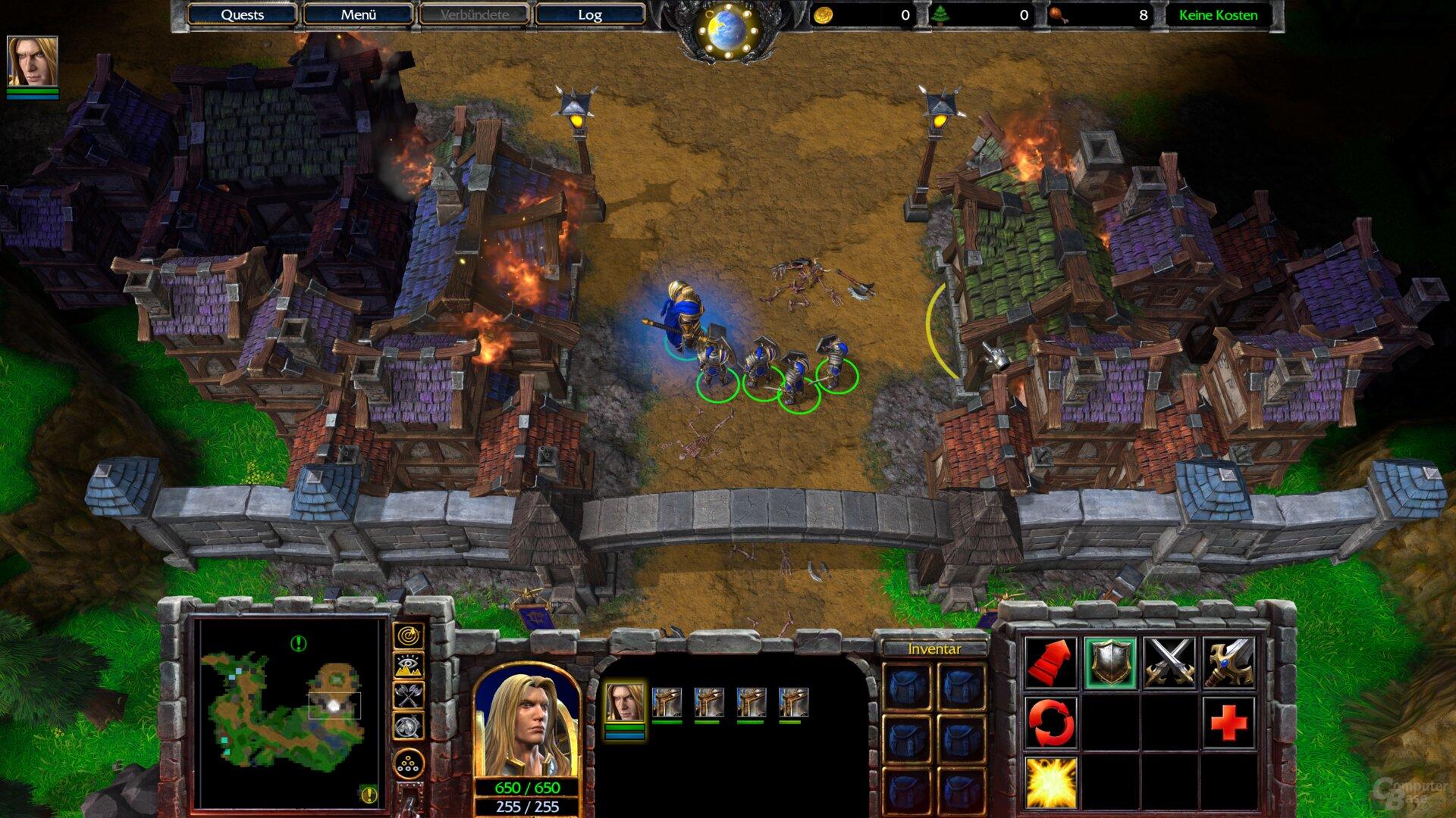 Die Benchmark-Szene von Warcraft 3: Reforged