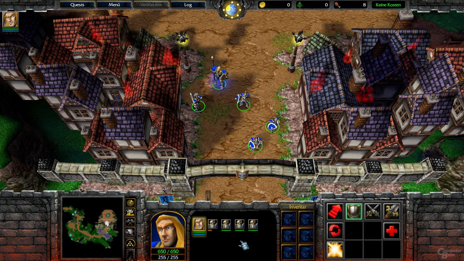 Die Benchmark-Szene von Warcraft 3: Classic