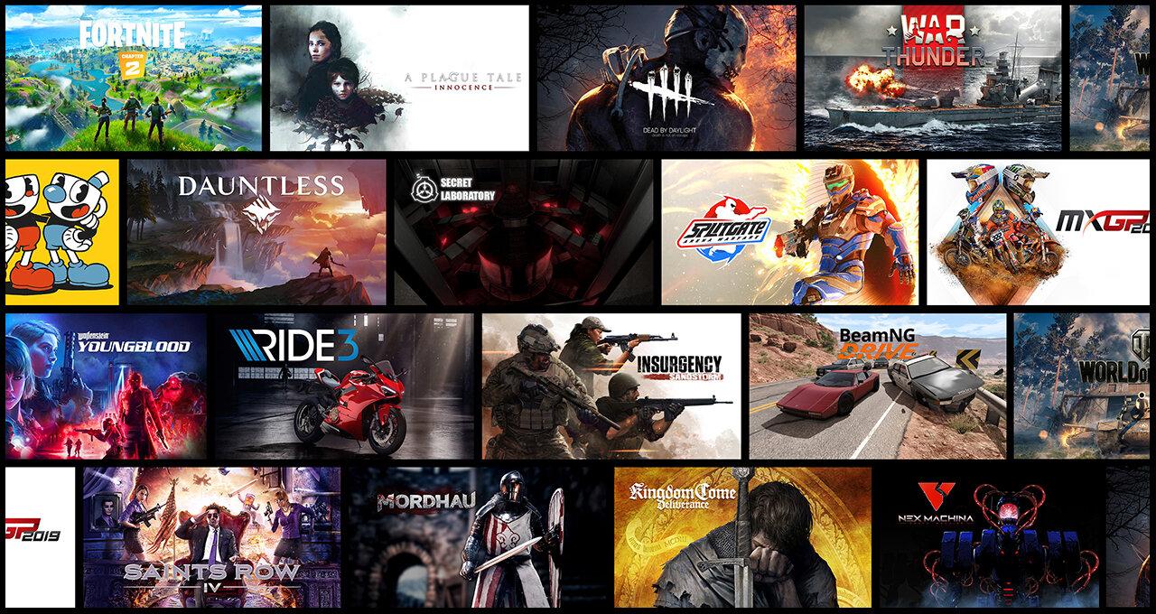 Auswahl an Spielen für GeForce Now