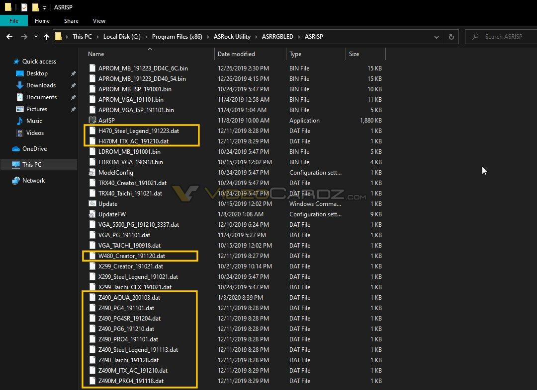 ASRock-App nennt Mainboards mit Z490, H470 und W480
