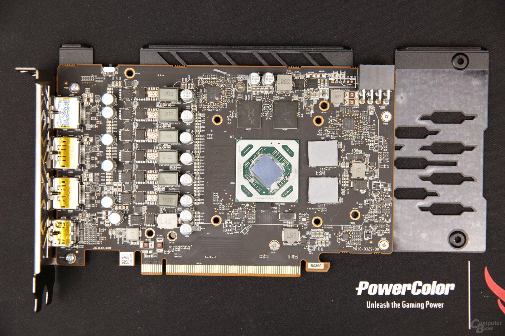 Die Radeon RX 5500 XT ist immer nur über 8 PCIe-Lanes angebunden