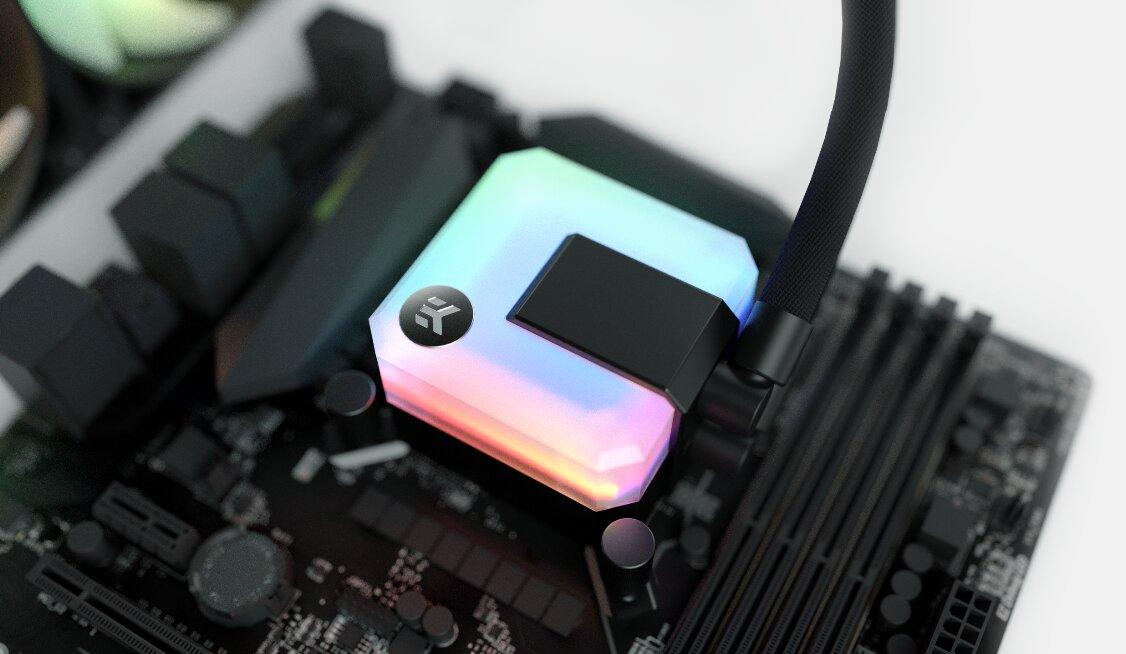 EKWB AiO-Kühlblock mit RGB-LEDs beleuchtet