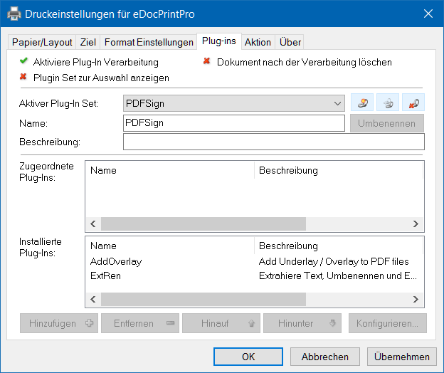 eDocPrintPro – Plug-ins