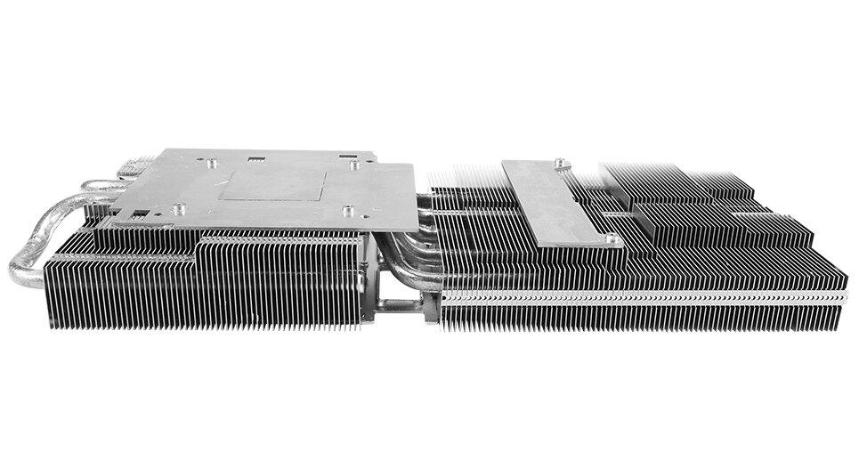 Asus TUF 3-RX5700-O8G-Evo-Gaming – der Kühlkörper
