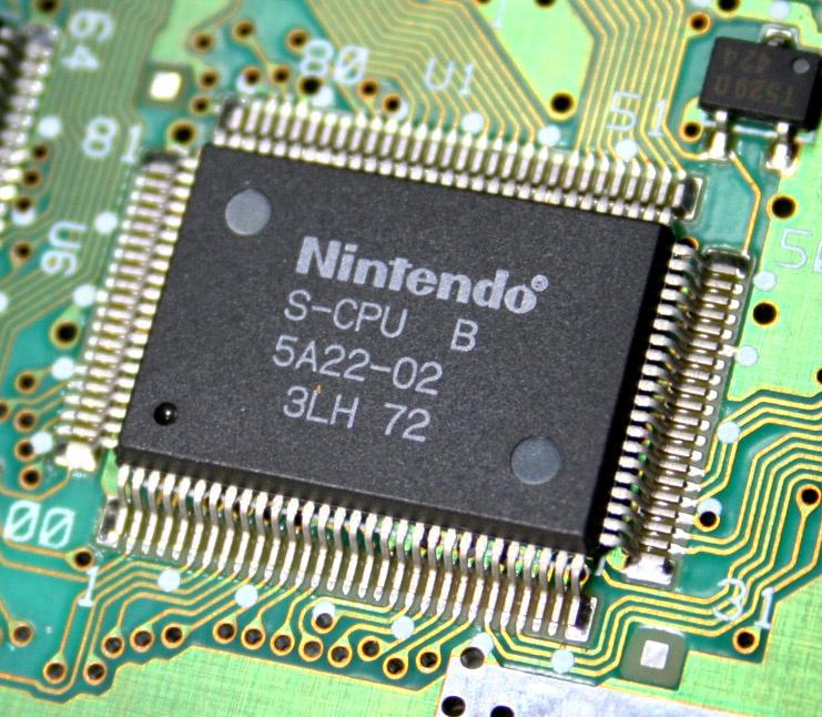 Hauptprozessor (Ricoh), Soundchip und DSP (beide Sony) des Super Nintendo Entertainment Systems