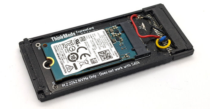 ThinkMods ExpressCard-M.2-Adapter: Erster Prototyp