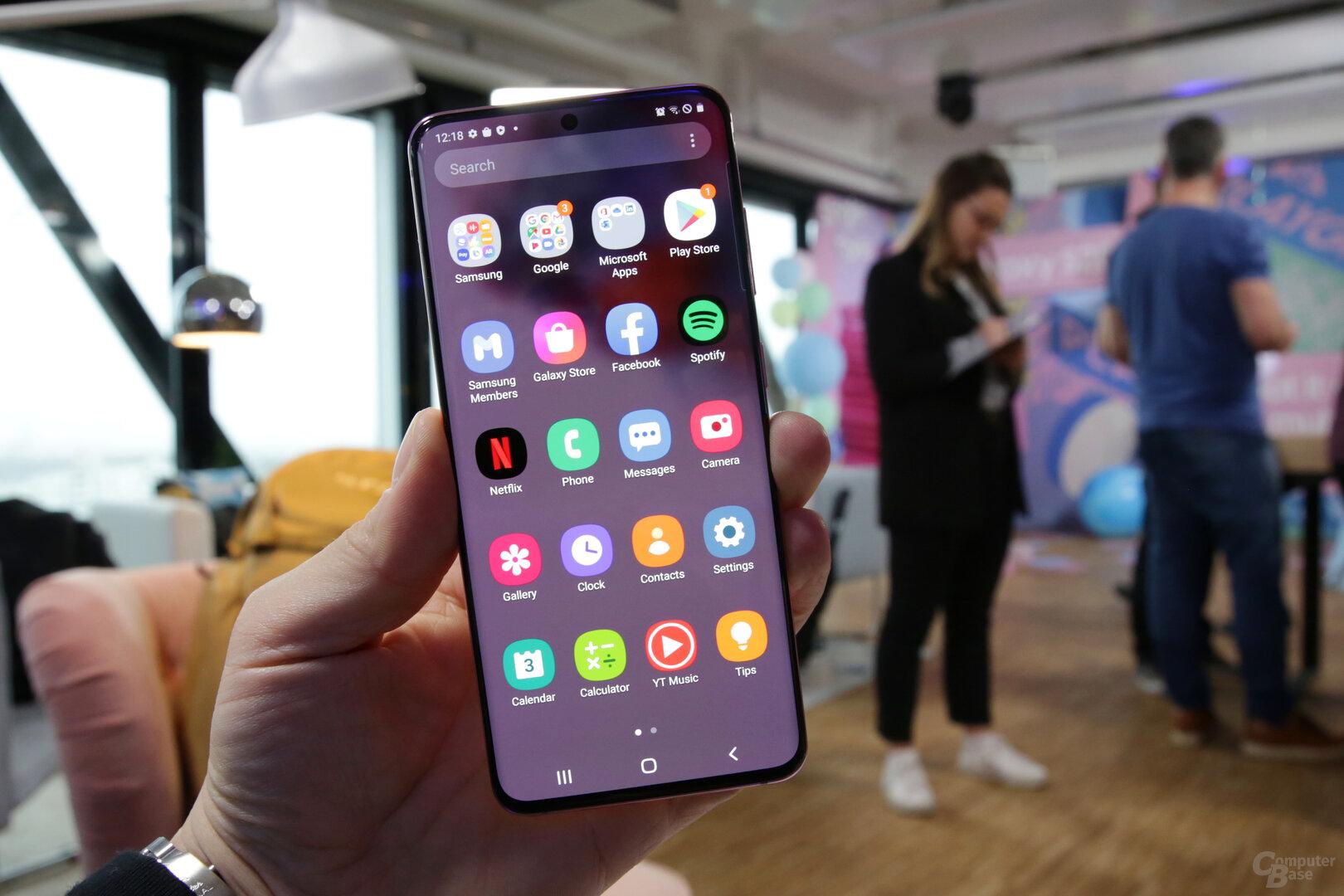 Android mit On-Screen-Tasten als Alternative zur Gestensteuerung
