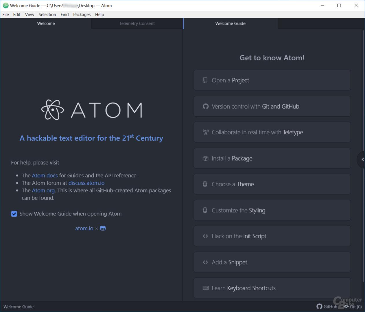 Atom – Startseite