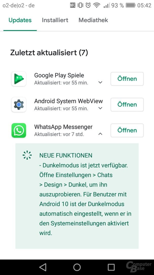 Dark Mode in WhatsApp für Android